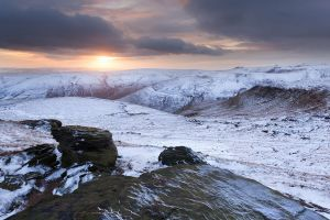 Winter Sunset on Grindslow Knoll
