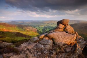 View from Kinder Scout to Edale Valley