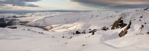 Above Cluther Rocks - Kinder Scout - Panorama