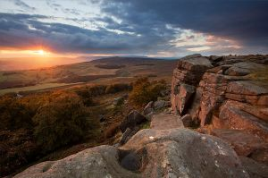 Stanage Edge Sunset