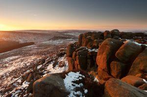Winter Sunrise on Higger Tor