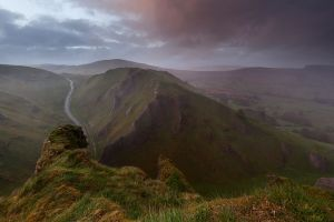 Winnats Pass Sunset storm