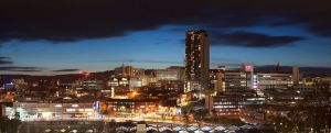 Sheffield at Night Panorama